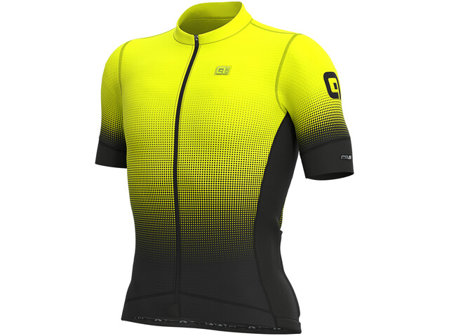 Alé Cycling PRS Dots SS Jersey Herre black/yellow fluo